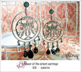 EA0079 - flower of the orient earrings