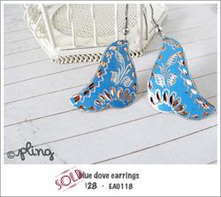 EA0118 - blue dove earrings