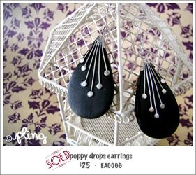 EA0066 - poppy drop earrings