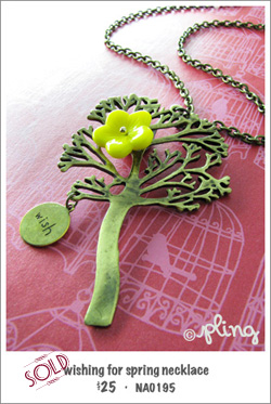 NA0195 - wishing for spring necklace