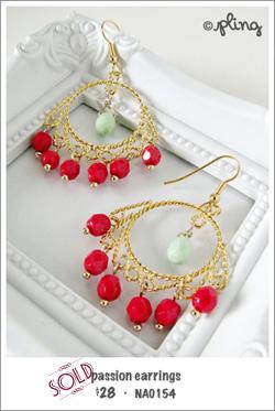 EA0154 - passion earrings
