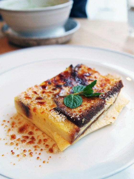 Arashiyama Castella Pudding - Sagano-Yu Cafe Kyoto
