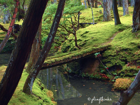 Bridge in Moss Garden - Saihoji Kyoto