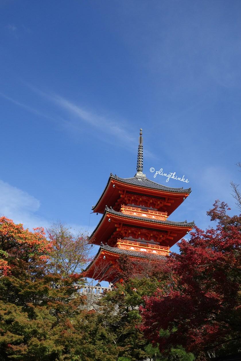 Three Story Pagoda - Kiyomizu-dera Temple Kyoto
