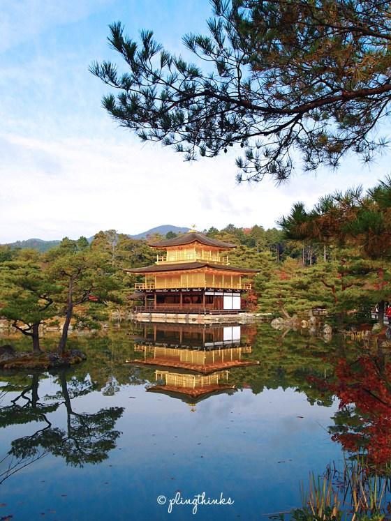 Gold Temple Golden Pavilion - Kinkaku-ji Kyoto Japan