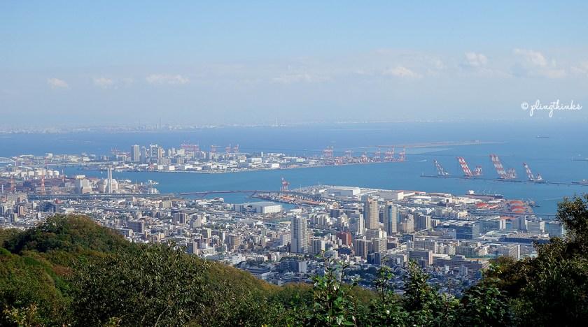 Kobe City Panorama - Nunobiki Herb Gardens Japan