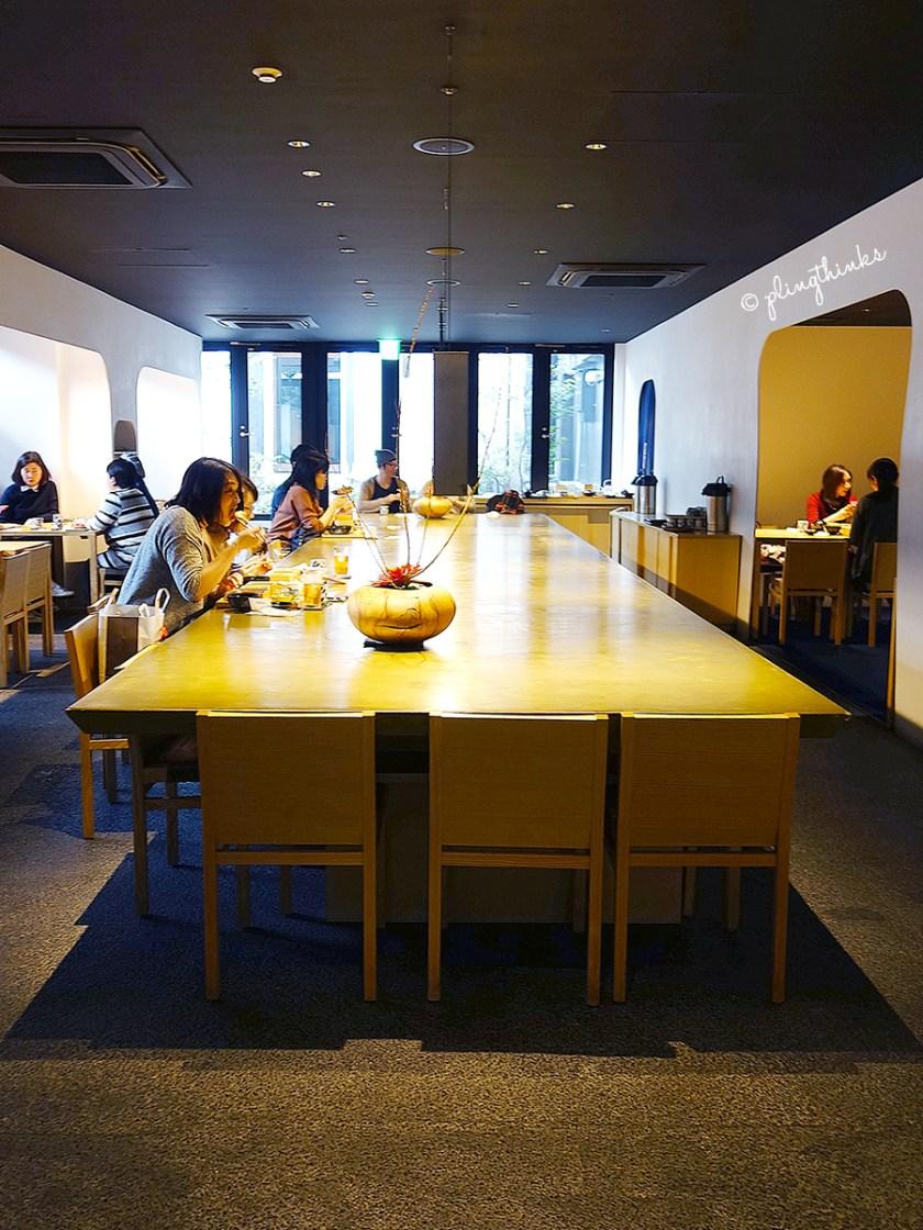 Long table at Izama Kyoto