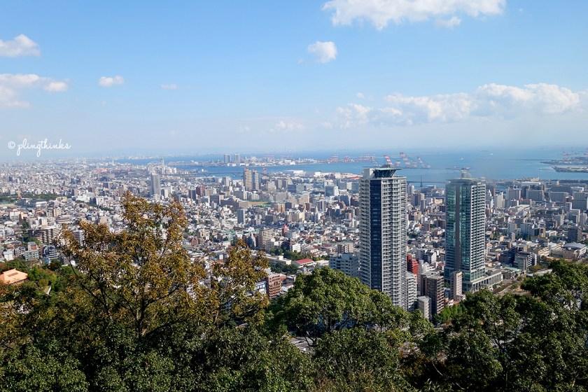 Nunobiki Herb Garden - Kobe Skyline Cityscape from Ropeway Cablecar