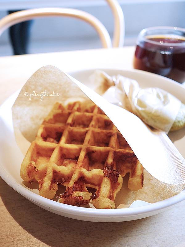 Blue Bottle Kyoto - Gruyere Cheese Waffle