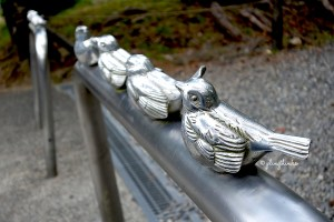 Outside Nanzenji Temple - Bird Pedestrian Railing