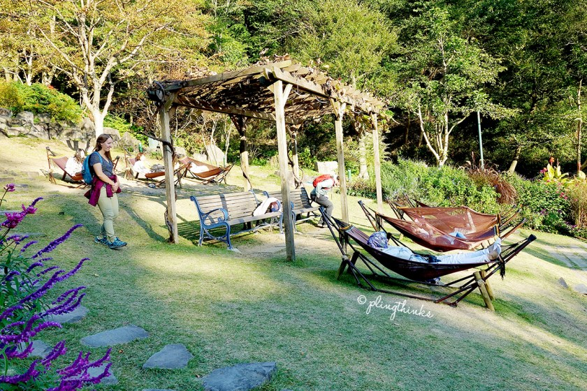 Resting in Hammocks - Nunobiki Herb Gardens Kobe Japan