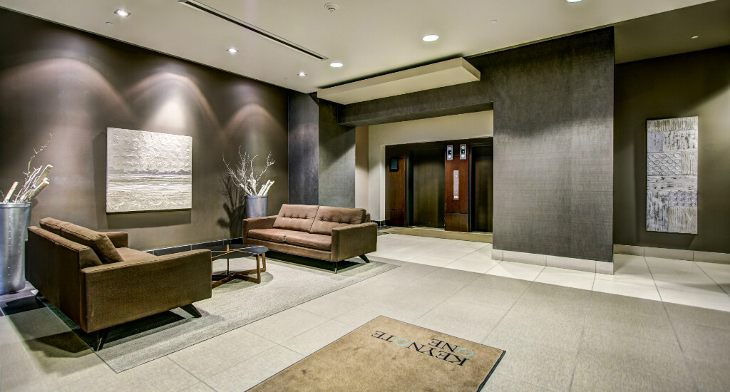Lobby-Keynote-Condo-Tower-Downtown-Victoria-Park-Calgary-Real-Estate