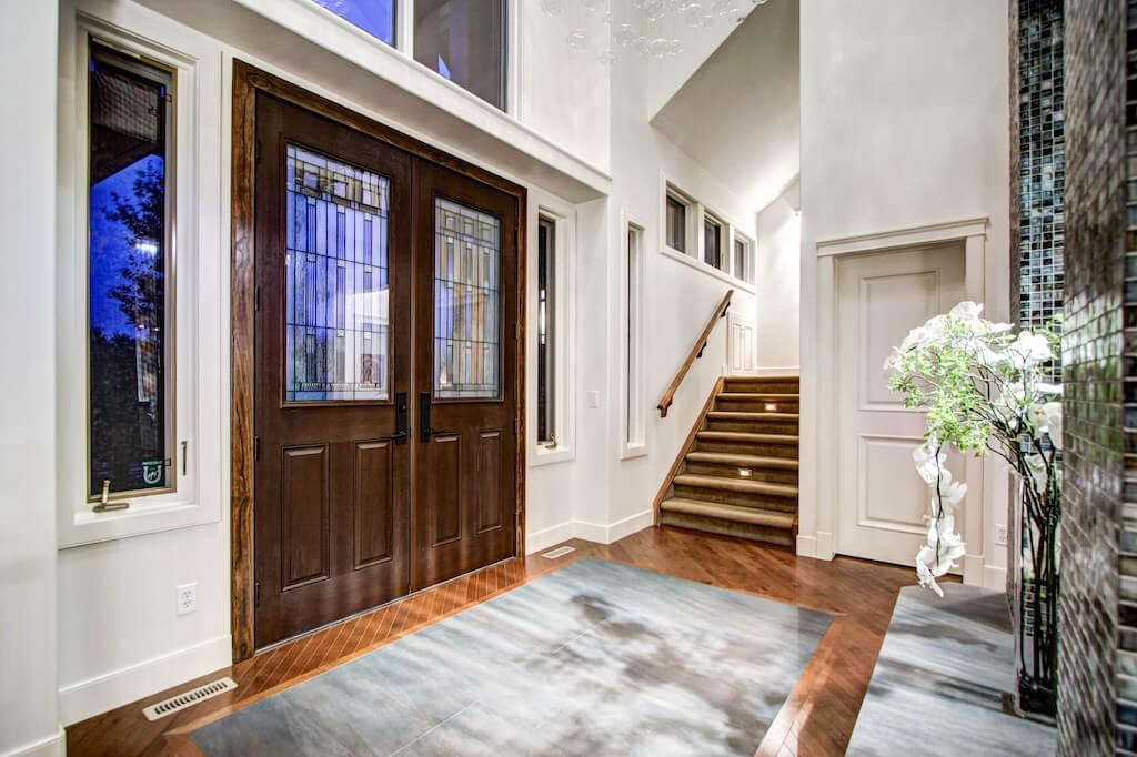 Wooden-doors-40-Wentwillow-lane-SW-west-springs-real-estate-for-sale-plintz-Realtor-calgary-sothebys-Luxury