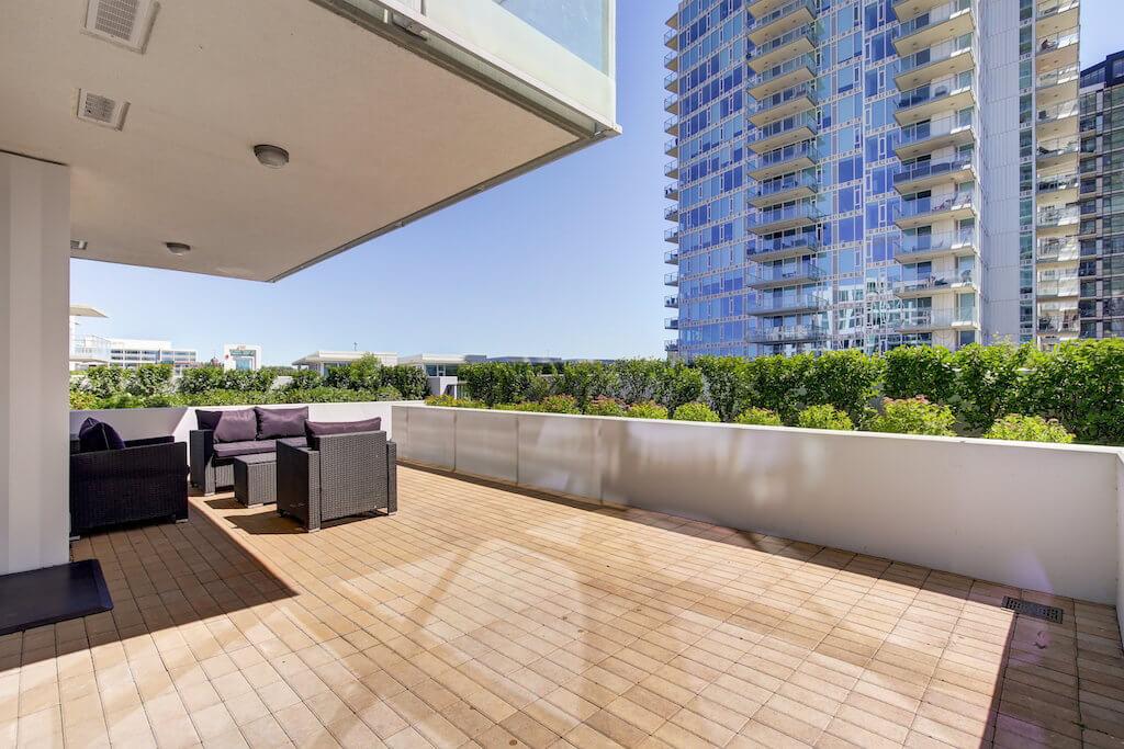 Downtown-patio-view-evolution-Realtor-210-510-6-Avenue-SE-east-village-calgary-real-estate-for-sale-condo-plintz-sothebys