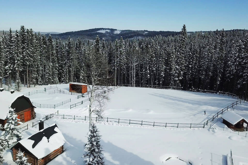 Horse-pen-aerial-foothills-352248-Pine-Ridge-Road-Bragg-Creek-Ranch-Acreage-For-Sale-Calgary-Real-Estate-For-Sale-taylor-sothebys-Realtor-Plintz