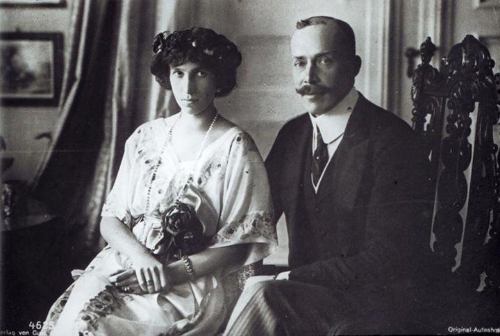 Prenk Vidi me bashkëshorten Sofie, princeshë e Schönburg-Waldenburgut