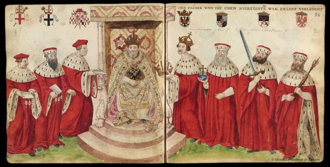 Grafik: Perandoria e Shenjtë Romake — digjitizuar nga Biblioteka Kombëtare e Spanjës (Biblioteca Nacional de España)