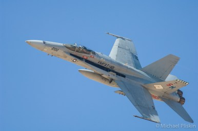 F/A-18 Hornet flies over El Centro NAS in California