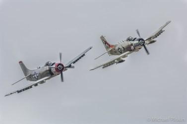 Douglas A-1 Skyraiders over Gillespie Field near San Diego