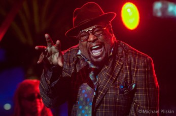 George Clinton performs with Parlieament/Funkadelic at NAMM 2015