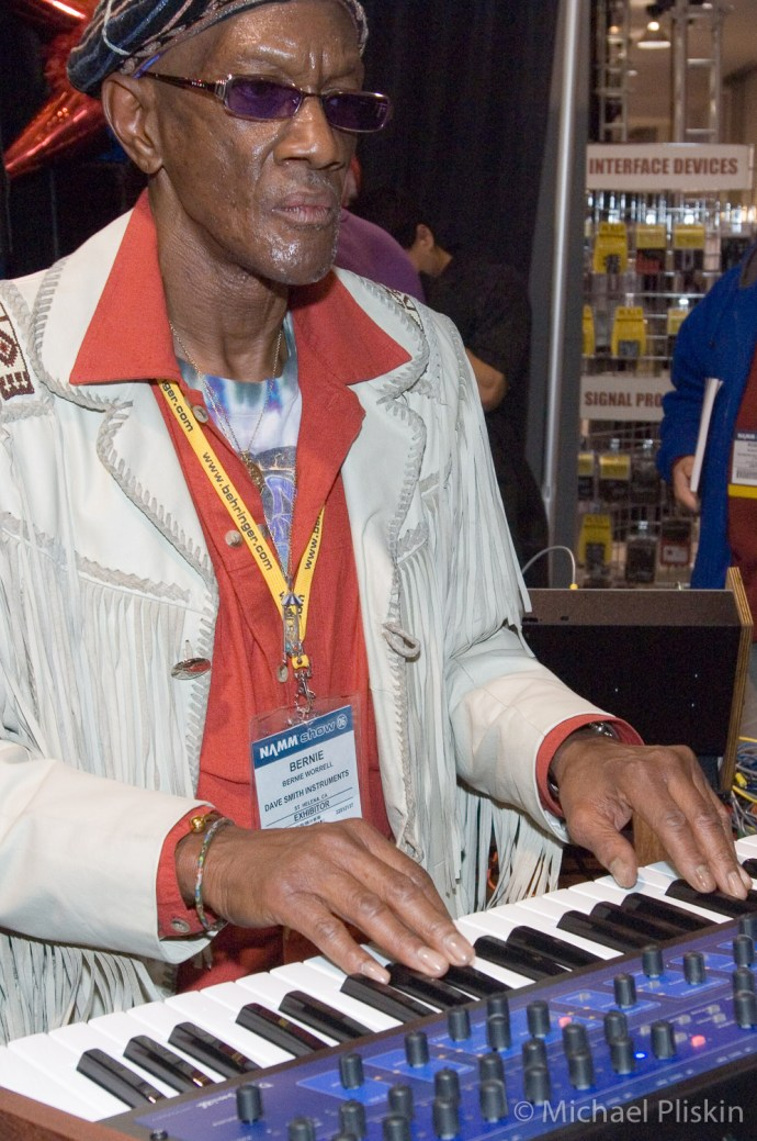 Parliament/Funkadelic keyboard player Bernie Worrell at NAMM 2006