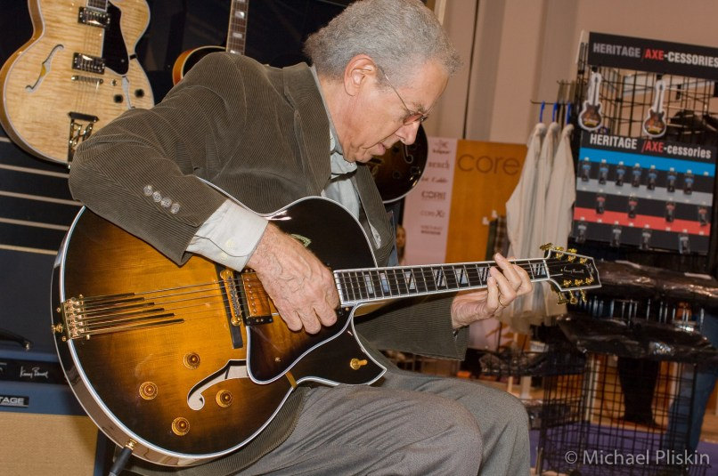 Jazz great Kenny Burrell plays a Heritage guitar at NAMM 2006