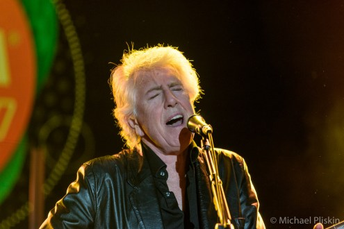 Graham Nash, double Rock Hall of Famer (The Hollies, Crosby, Stills & Nash) performs with guitarist Shane Fontayne on the Main Stage the first night of NAMM 2016