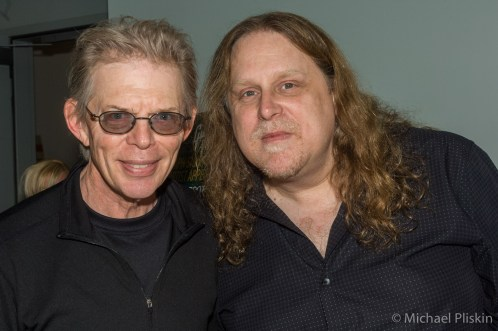 Jack Casady (L) bassist for Jefferson Airplane and Hot Tuna, with Warren Haynes, guitarist for the Allman Brothers and Government Mule