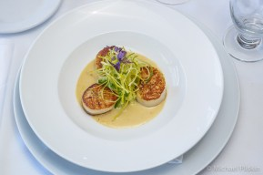 Seared Scallops by Chef Alain Giraud at Maison Giraud