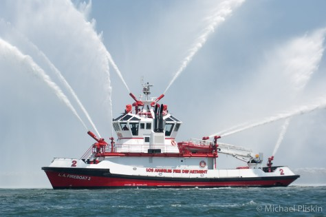 LAFD Fireboat 2 in Los Angeles harbor