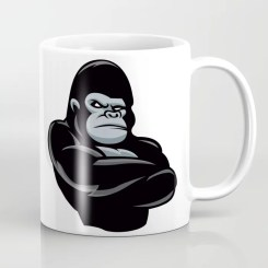 angry gorilla.black gorilla Coffee Mug by marios | Society6