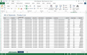 Excel BOM