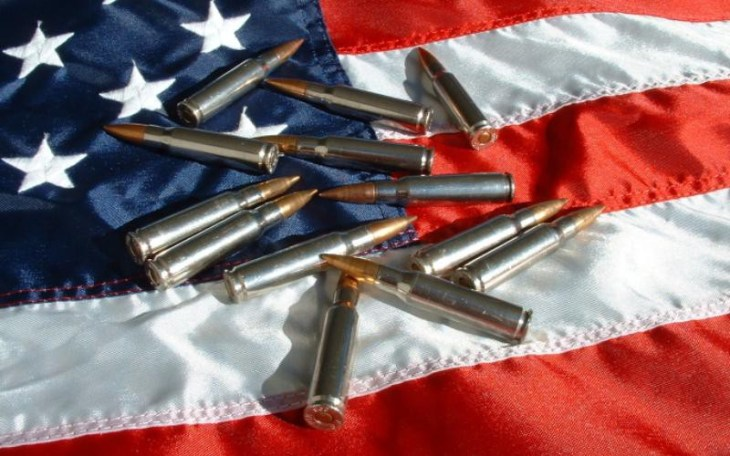 ammo on u.s. flag