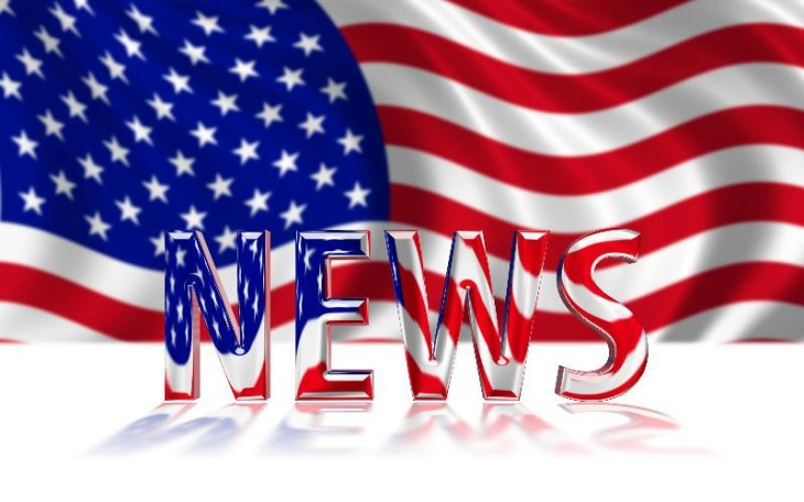 american flag with the word news