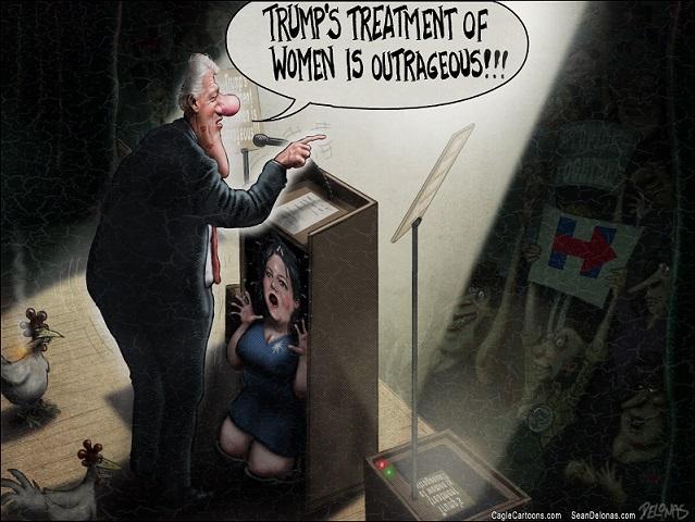 Clinton treatment of women vs Trump