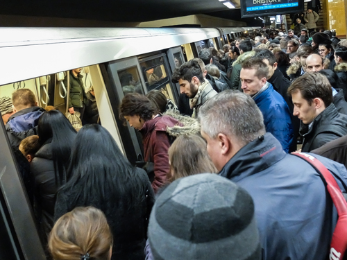 Crowded subway