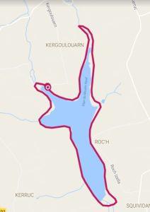Une promenade de 7,2 km autour de la réserve