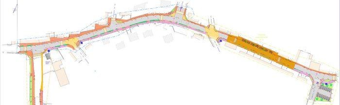 Route de Quimper - Plan de la tranche 1