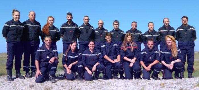 Les pompiers de Plonéour-Lanvern le 1er octobre 2018