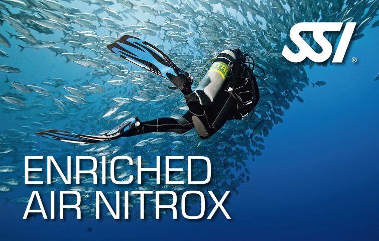 Carte de certification de spécialisation Air Enrichie Nitrox - SSI - Enriched Air Nitrox