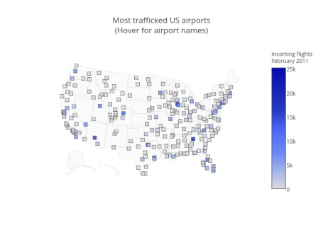 Most trafficked US airports<br data-recalc-dims=