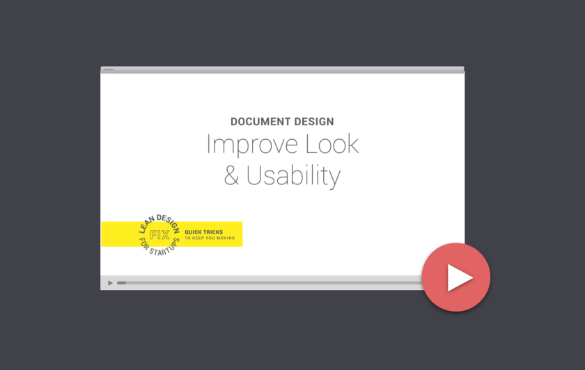 Lean Design Video Tutorial