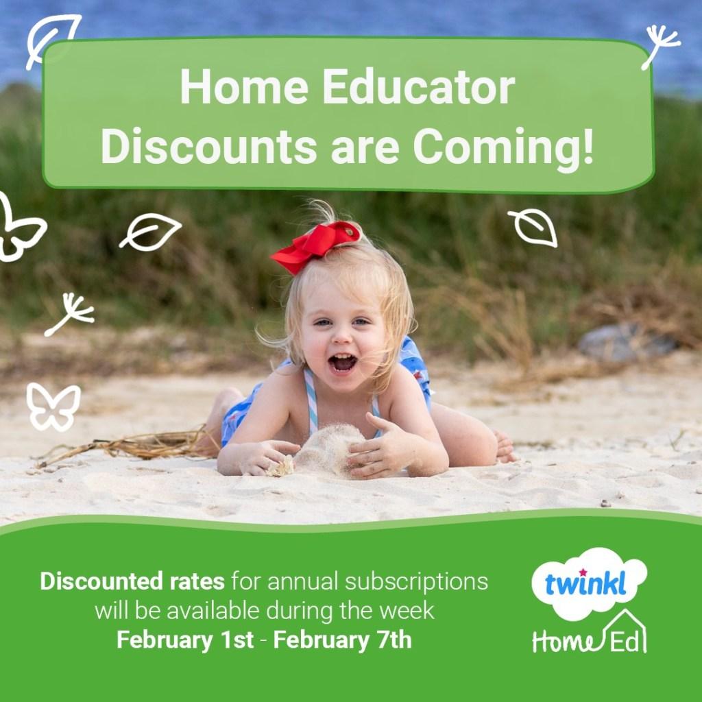 Twinkl Home Ed Discounts 2021