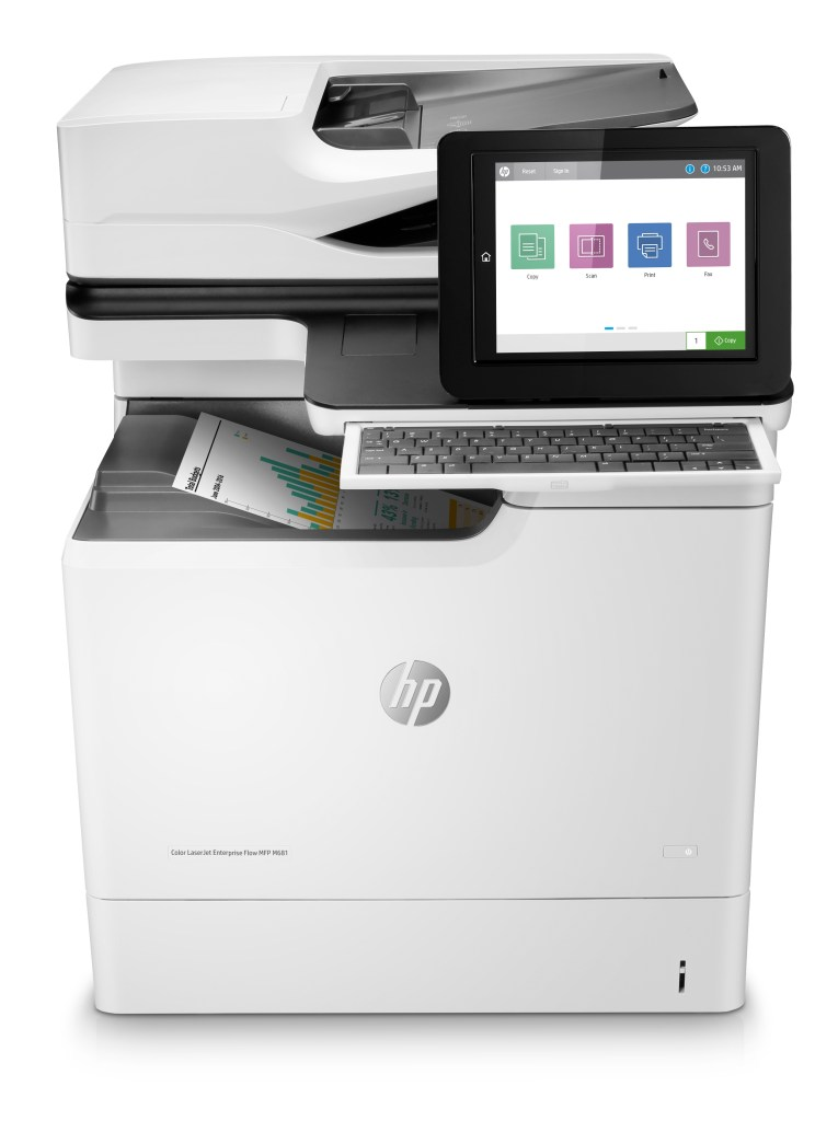 HP LazerJet Enterprise M681 Front