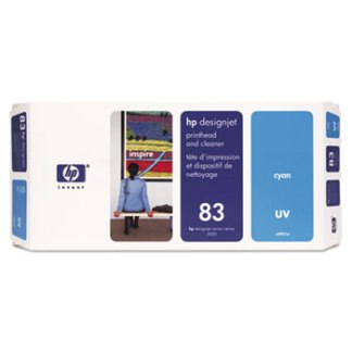 HP 83 UV Cyan Printhead and Cleaner