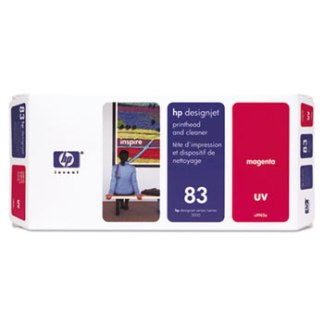 HP 83 UV Magenta Printhead and Cleaner