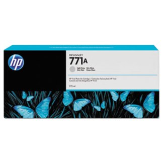 HP771A 775-ml Light Gray DesignJet Ink Cartridge