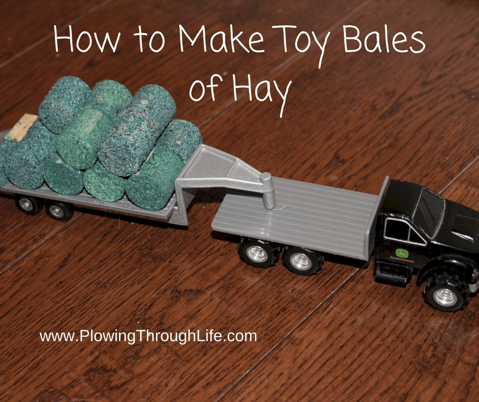 how to make toy bales of hay