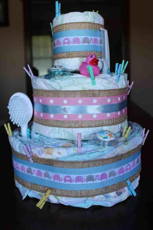 large diaper cake