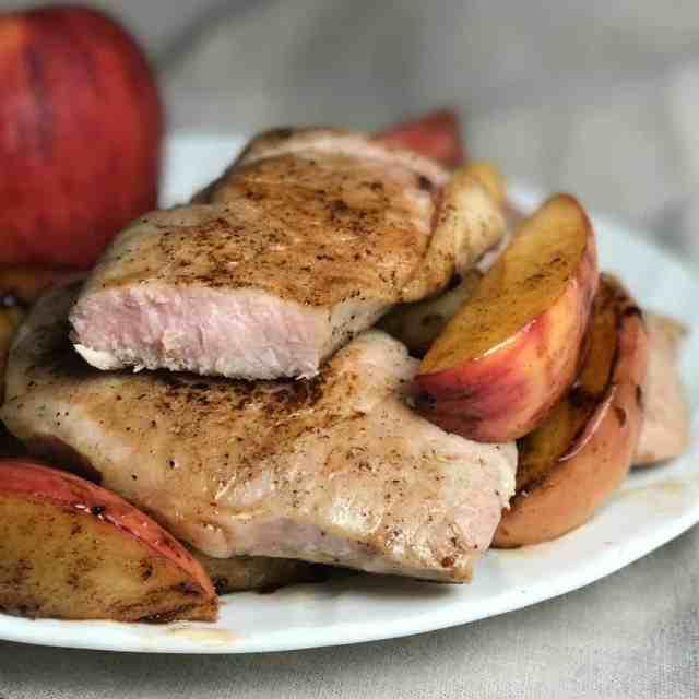 caramel apple pork chop